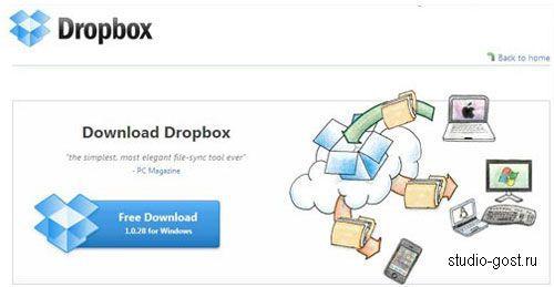 Облачное хранилище - dropbox