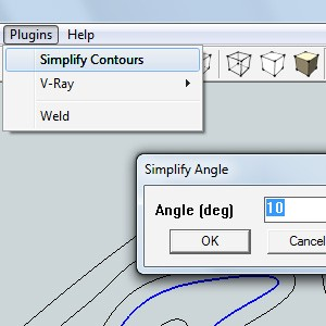 Плагин для SketchUp - Simplify Contours