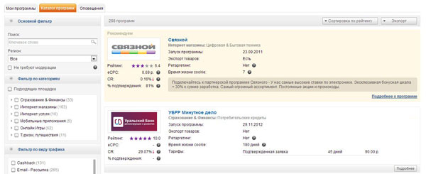 CPA партнерки – обзор CPA сетей