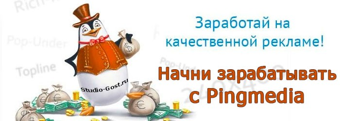 баннерная реклама Pingmedia. Оплата за показы и клики.